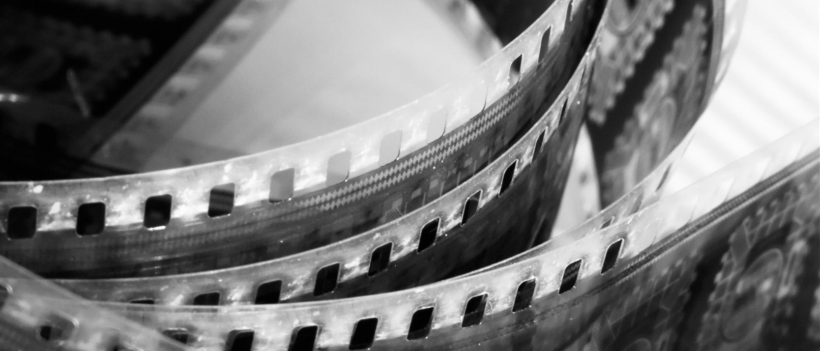 portion of movie film reel